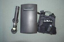 """21st Century 1:6 Black SWAT Shield + Ram + Vest Gear for 12"""" Action Figures C-81"""