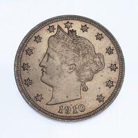 1910 Liberty Head Five Cent Nickel 5C Unc.