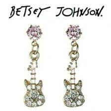 US Seller Betsey Johnson Guitar Bee Bunny Cat Ice cream pineapple earrings