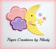 CRAFTECAFE MINDY BABY GIRL MOON CLOUDS premade paper piecing TITLE scrapbook