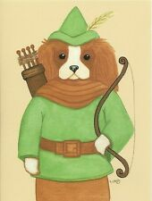Robin Hood, Blenheim Cavalier King Charles Spaniel blank note card
