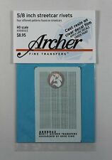 "Archer HO-Scale (1/87) 5/8"" Rivets for Streetcars & Interurban Vehicles AR88065"