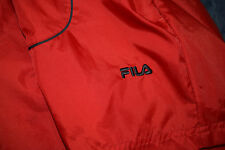 Fila red/blue hooded windbreaker XL festival hipster