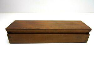 Vintage Antique Wood Coffin Secret Slide Slider Box Incense Holder