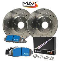[F] Rotors w/M1 Ceramic Pads Premium Brakes 2006 - 2013 Fit Lexus IS250