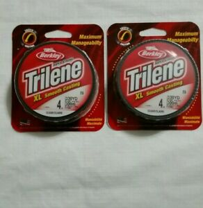 Berkley Trilene XL 4 lb 330 yards clear new lot of 2