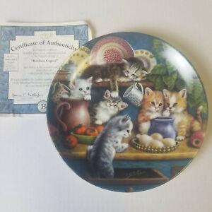 1998 Jurgen Scholz - Litter Rascals Kitchen Capers - 8in Plate - Numbered, COA