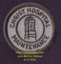 "LMH PATCH Badge CHRIST HOSPITAL Medical Center MAINTENANCE Service Old Logo 2.3"""