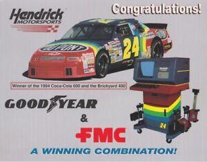 1994 Jeff Gordon Goodyear & FMC Chevy Lumina NASCAR Winston Cup B/B postcard