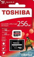 Toshiba® Exceria™ 256GB microSDXC™ M303 UHS-I V30 A1 U3 Memory Card SD Adapter