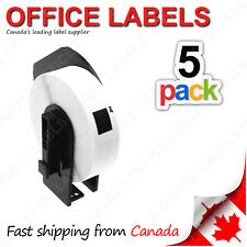 5 Rolls of DK-1204 BROTHER® Compatible Labels With 1 Reusable Cartridge