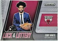 2019-20 Panini Coby White Prizm LUCK OF LOTTERY Rookie RC Chicago Bulls 📈🔥