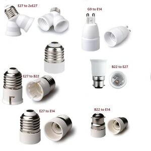 B22 E27 E14 to G9 2E27 Light Lamp Adapter Converter EDISON Screw Bayonet Cap UK