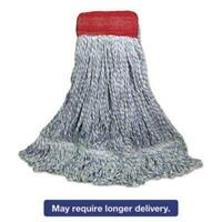 Boardwalk 553 Mop Head, Floor Finish, Wide, Rayon/polyester, Large, White/blue,
