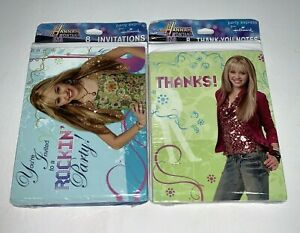 Hallmark Hannah Montana Birthday Party Invitations & Thank You Notes 8 Each New