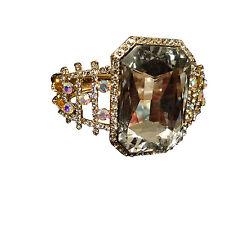 Forma AUDACE Argento Oro Design CZ con grande cristallo Bracciale in pietra
