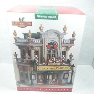 """Lemax Coventry Cove """"The Rialto Theatre"""" Lighted Building 2005 Christmas"""