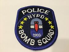 NYPD POLICE BOMB  SQUAD  PATCH