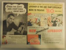 LifeBuoy Soap Ad: Given The Gate And I Don't Know Why ! Wartime Ad from 1940's