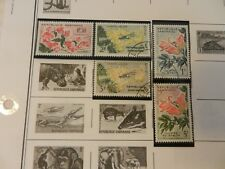 Lot of 7 1969 Gabon Stamps, Flowers and more