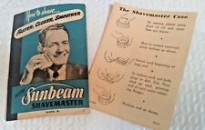 "Vtg 1948 ""SUNBEAM SHAVEMASTER"" HOW TO SHAVE Faster Cleaner Smoother Brochure"