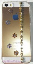 GOLD FLOWERS Crystal Bling Clear Back Case for iPhone X 10 made with Swarovski
