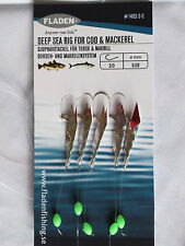 25 Pks Red Silver Flasher 5 hook size 3/0 fishing mackerel feather lure sea cod