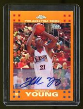 THADDEUS YOUNG TOPPS CHROME RC AUTO /25 ORANGE REFRACTOR  MINT   SIXERS STAR HOT