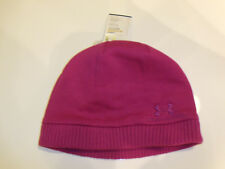 NWT Womens Under Armour Cold Gear Storm Pink Beanie Hat NEW One Size