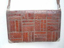 Sac a main patchwork crocodile epoque vintage Handbag
