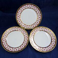 "HAVILAND & PARLON 3 Piece Lot ROSE D'OR Golden Roses 10"" DINNER PLATES Dishes"