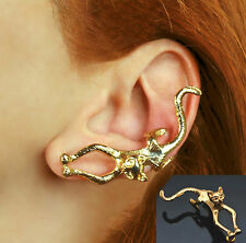 XXL Katze Design Ohrklemme Ohrclip Ohrstecker  Ear Cuff Clip Ohr Stulpe