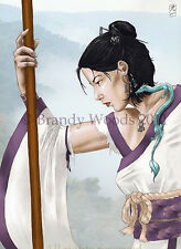 Japanese China Female Warrior Dragon Fantasy Fairy Magic art print Brandy Woods