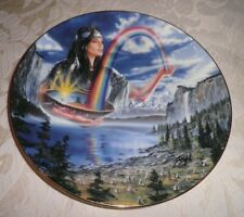 RED INDIAN COLLECTORS PLATE - 'RAINBOW MAIDEN' - ROYAL DOULTON