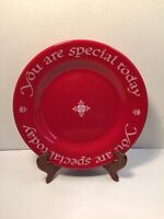 "Waechtersbach Red Heart Plate ""You are special today"" Made in West Germany 10.5"""