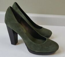 Banana Republic NEW Suede Green Platform High Heel Shoes Pumps, Size 8.5 Round