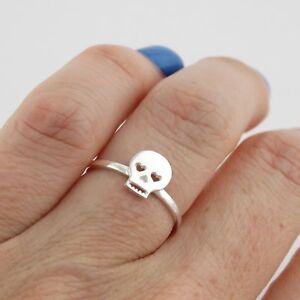 Sugar Skull Ring - 925 Sterling Silver - Day of the Dead Los Muertes Skull Ring