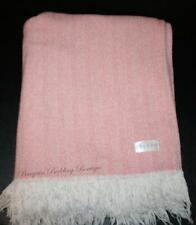 Sferra Celine Throw Blanket Cotton Afghan Dark Pink Herringbone