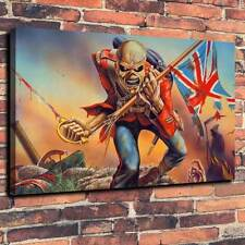 "Iron Maiden The Trooper Eddie Printed Canvas A1.30""x20""~Deep 30mm Frame"