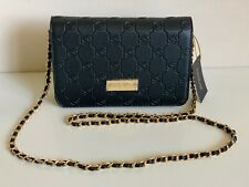 NEW! BEBE ALANA BLACK EMBOSSED SAFFIANO LEATHER CROSSBODY SLING BAG $69 SALE