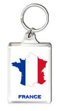 FRANCE FLAG MAP KEYRING SOUVENIR LLAVERO