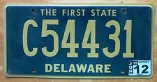 Delaware 2012 TRUCK License Plate HIGH QUALITY # C54431