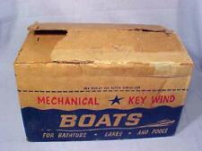 Vintage STORE DISPLAY & 11 J. CHEIN MARK 1 SPEED BOAT Wind-ups VERY RARE BOX 50s