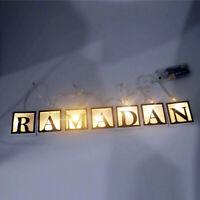 Night Lamp LED String Light Hanging Ramadan Islamic Eid Mubarak Party Decoration