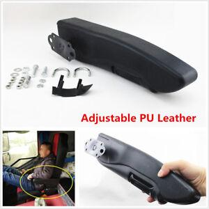 Car Truck Seat Armrest Console Box Adjustable Left Side Seat Arm Rest PU Leather