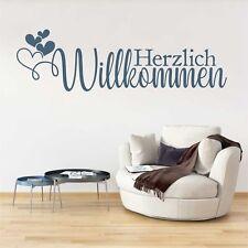 Wandtattoo Wandsticker Wandaufkleber Herzlich Willkommen Flur WT146