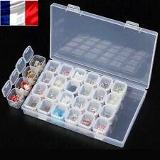 28 Slots Boîte De Rangement Réglable Boîte En Plastique Boîtes De Bijoux Perles