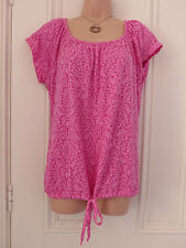 ORIGINALE Essentials Taglia 12 BNWT Top Rosa con coulisse cravatta nella parte inferiore