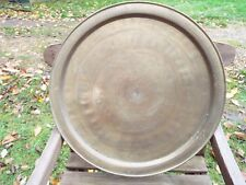 Vintage Persian Middle East Islamic Brass Tray Charger Table Top 58cm Diameter