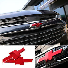Grille Trunk Bowtie Emblem Badge Cover Red For 2017, 2018+ Chevrolet Malibu